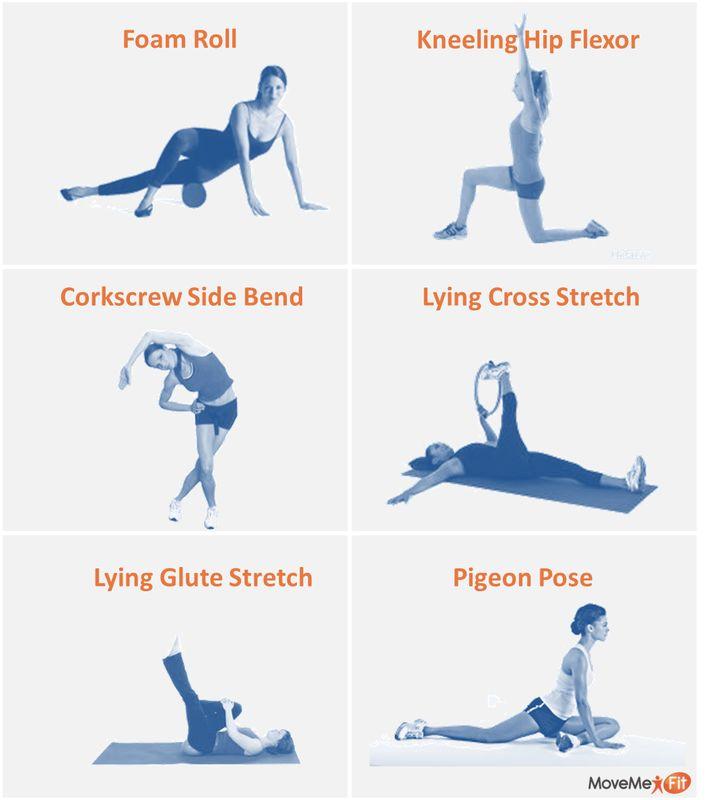 hip flexor pressure healing exercises