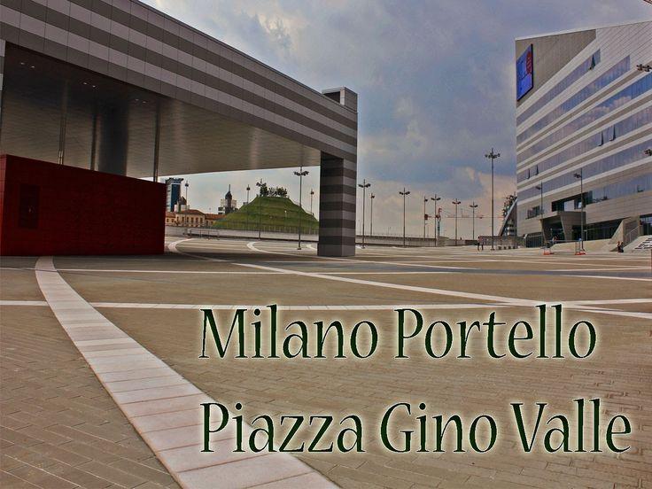 Milano la nuoca piazza Gino valle, al portello fiera Milanocity