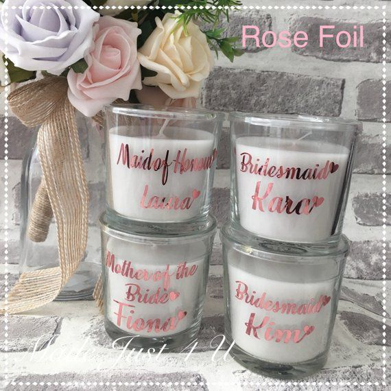 Bridesmaid Gift Personalised Candle Scented Candle Bridesmaid Gifts Wedding Candle Ca Personalized Candles Wedding Thank You Gifts Gifts For Wedding Party