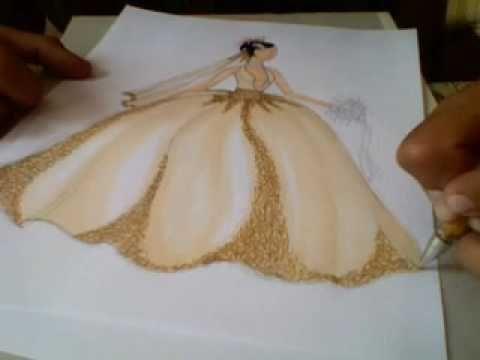 Rafael Castrejon, Figurin de moda, vestido de Novia