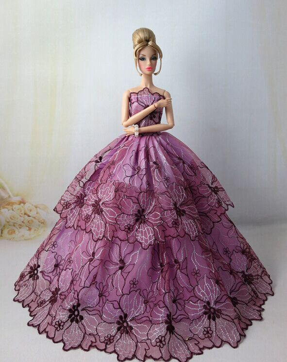 Barbie DYX74 Fashion Model Collection Chiffon Ball Gown Doll ...