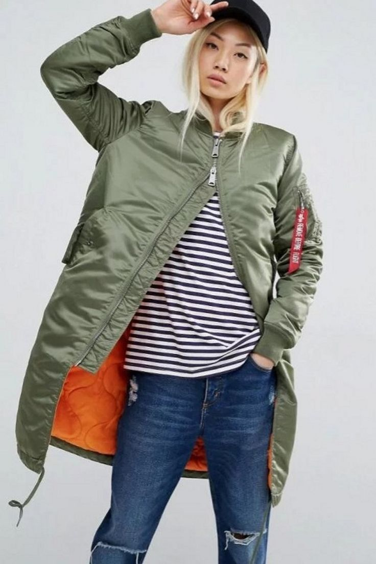 ALPHA INDUSTRIES MA1 LONG LINE CONTRAST LINING BOMBER JACKET  US$99.00