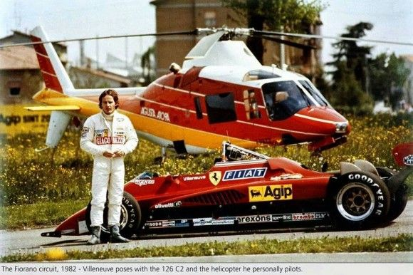 Villeneuve poses with his every day transport.