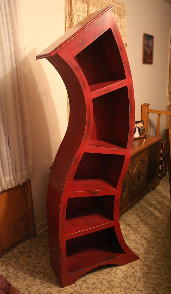 so gr8: Kids Playrooms, Red 72500, Kids Room, Seuss Shelf, Distressed Red, Dreams Room, 6Ft Distressed, Dr. Seuss Decor Ideas, Curves Bookshelf