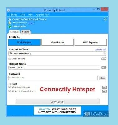 Connectify Hotspot Crack Plus Serial key Free Download