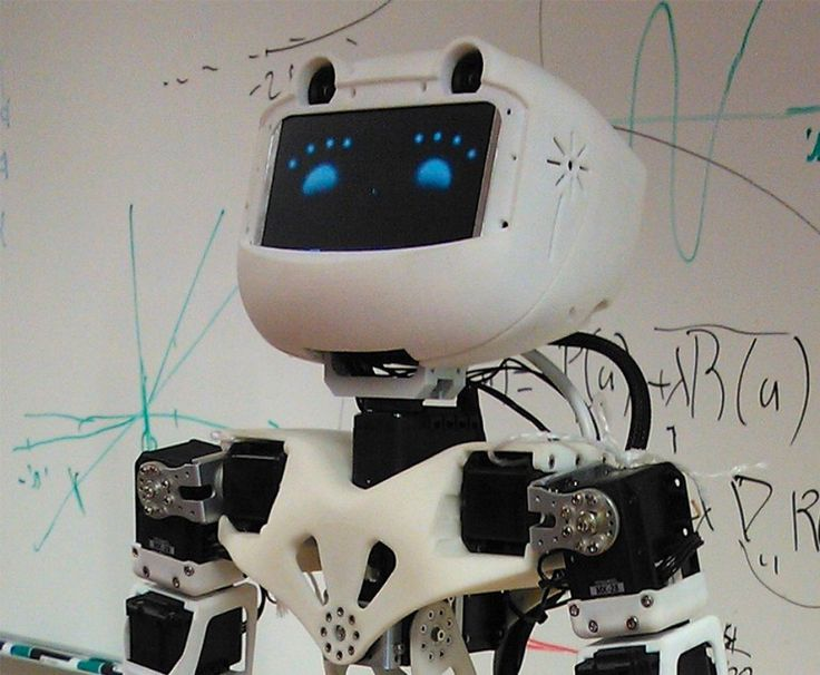 Poppy's head contains a pair of HD cameras as well as a 4-inch LCD screen for displaying f...