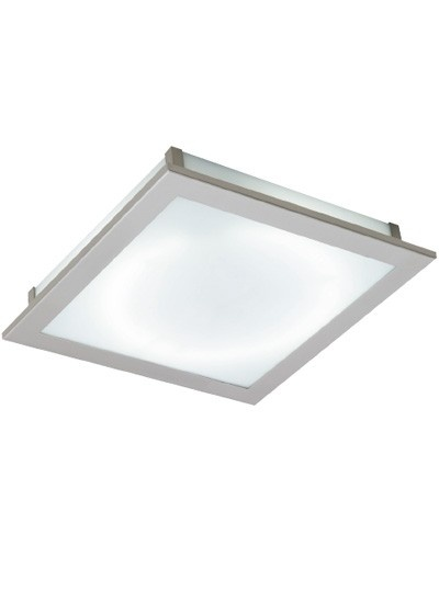 Image Flush Mount in Brushed Chrome/Frosted Glass,Lighting,Beacon Lighting