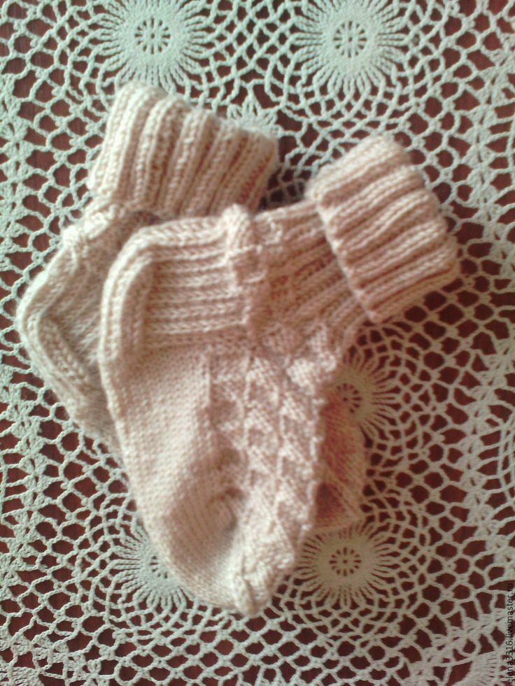 Купить Детские носочки вязаные - серый, однотонный, носочки вязаные, носки ручной работы