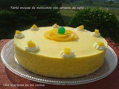 Tarta Mousse De Melocoton Con Corazon De Nata