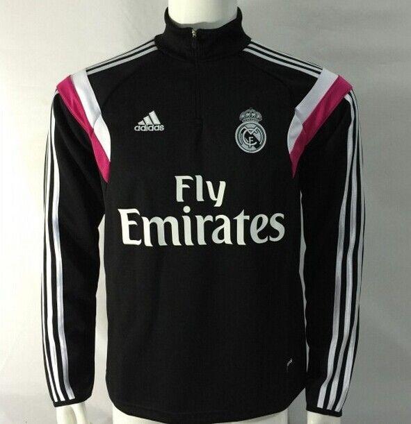 Sudadera Real Madrid con cremallera 2014/2015 -- Negro - €35.00 :