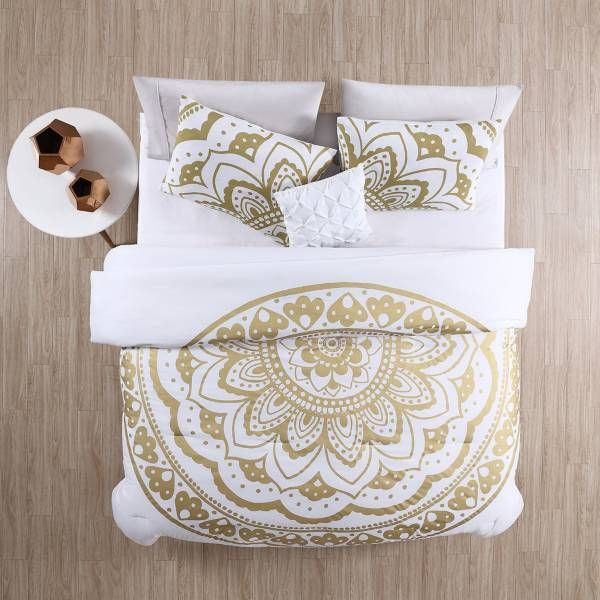 Product Image for VCNY Karma Comforter Set in Gold/White 3 out of 4