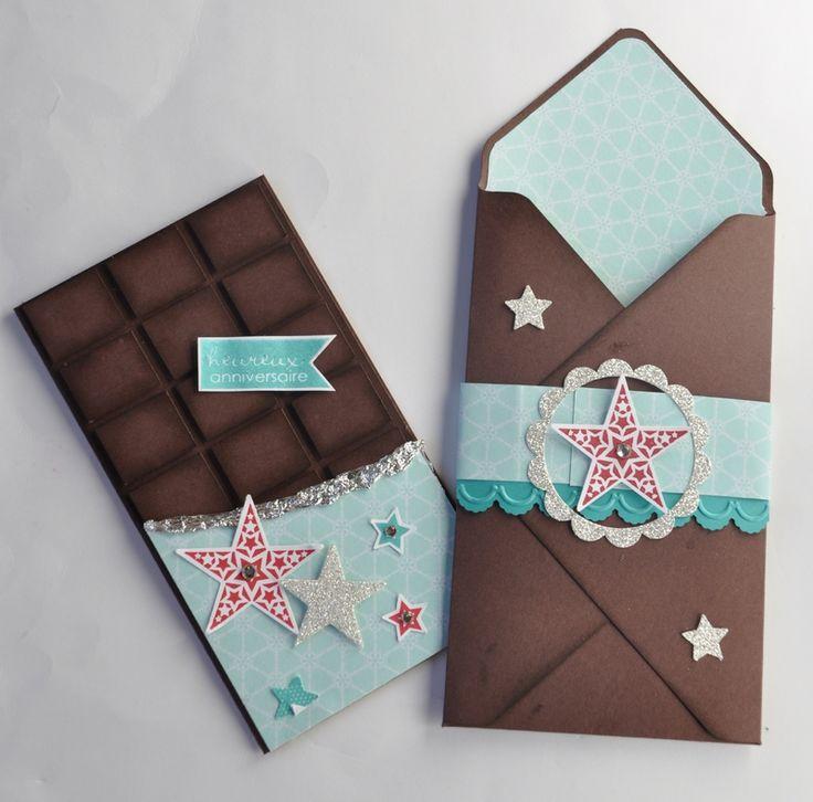 Pochette pour fausse  tablette de chocolat
