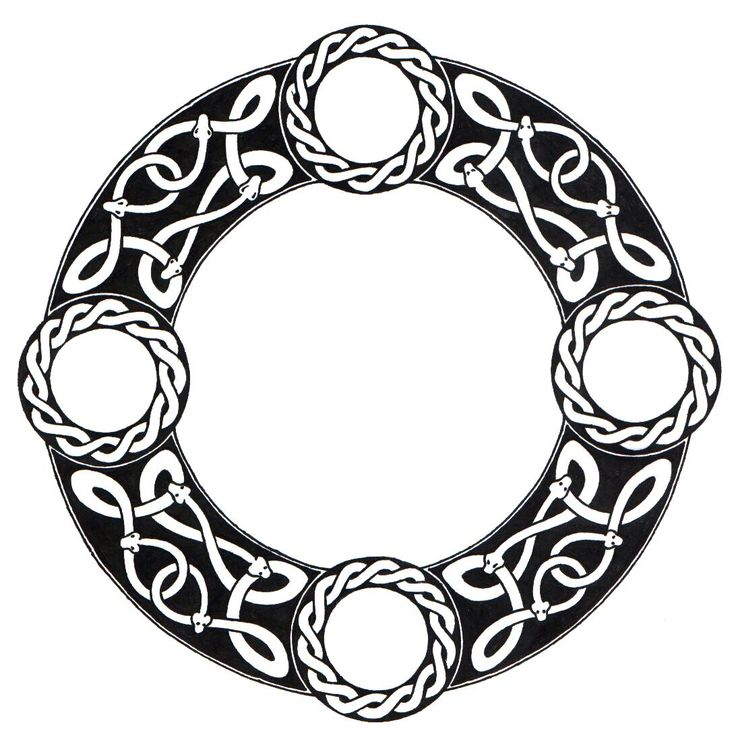 Celtic circle Tattoo | Scandinavian Knot Circle by ...