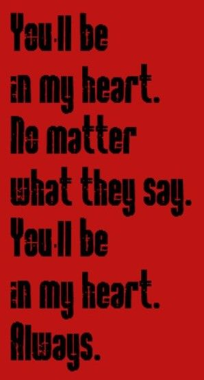 Phil Collins - You'll Be in My Heart - song lyrics, music lyrics, songs, song quotes, music quotes
