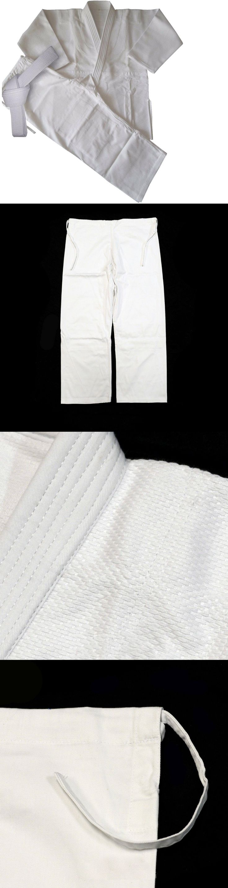 Uniforms and Gis 179774: Judo Gi Professional White Gi Best Uniform 100% Cotton Complete Uniform- Ssco -> BUY IT NOW ONLY: $36.26 on eBay!