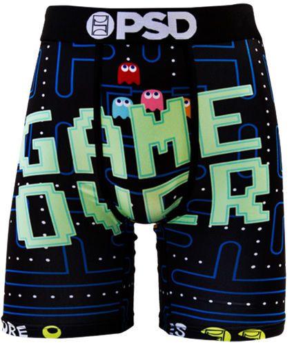 """PSD GAME OVER Men's Boxer Briefs 7"""" Inseam Pac Man Graphic Underwear #PSD #BoxerBrief"""