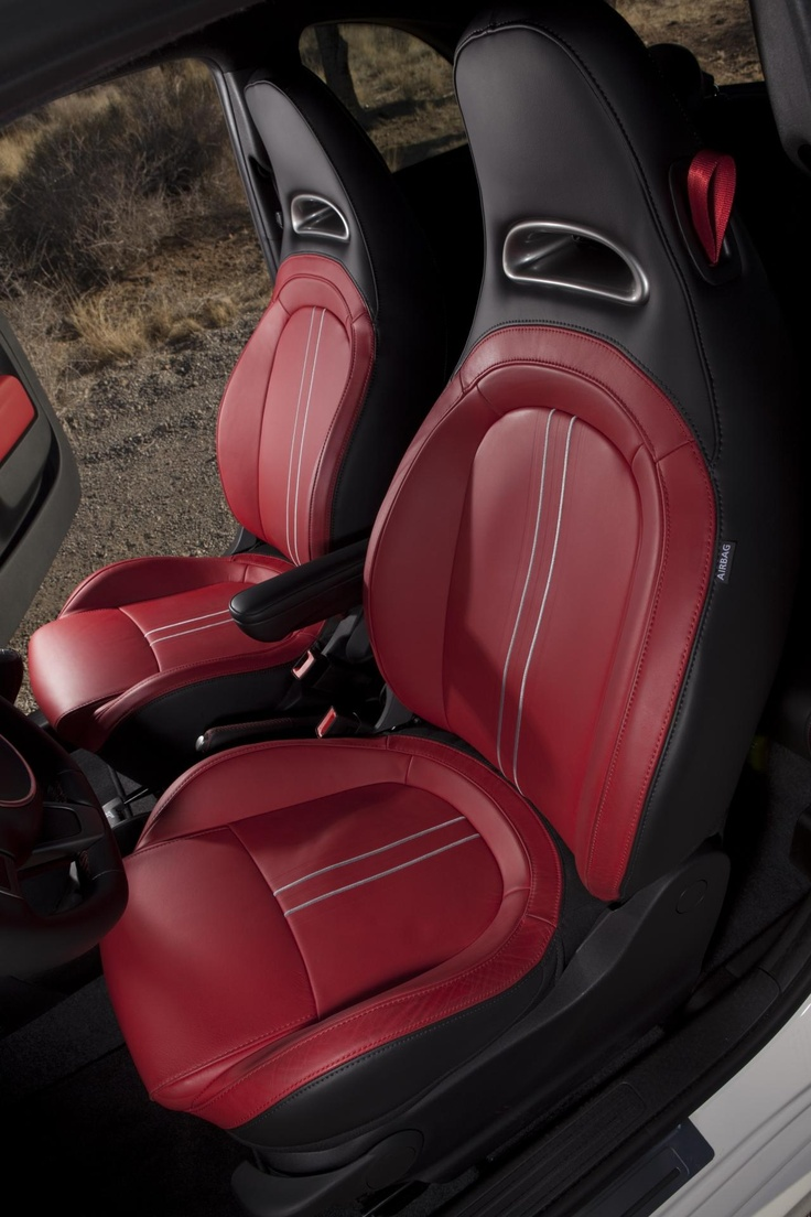 2012 Fiat 500 Abarth-Red & Black interior. My two favorite colors ❤.