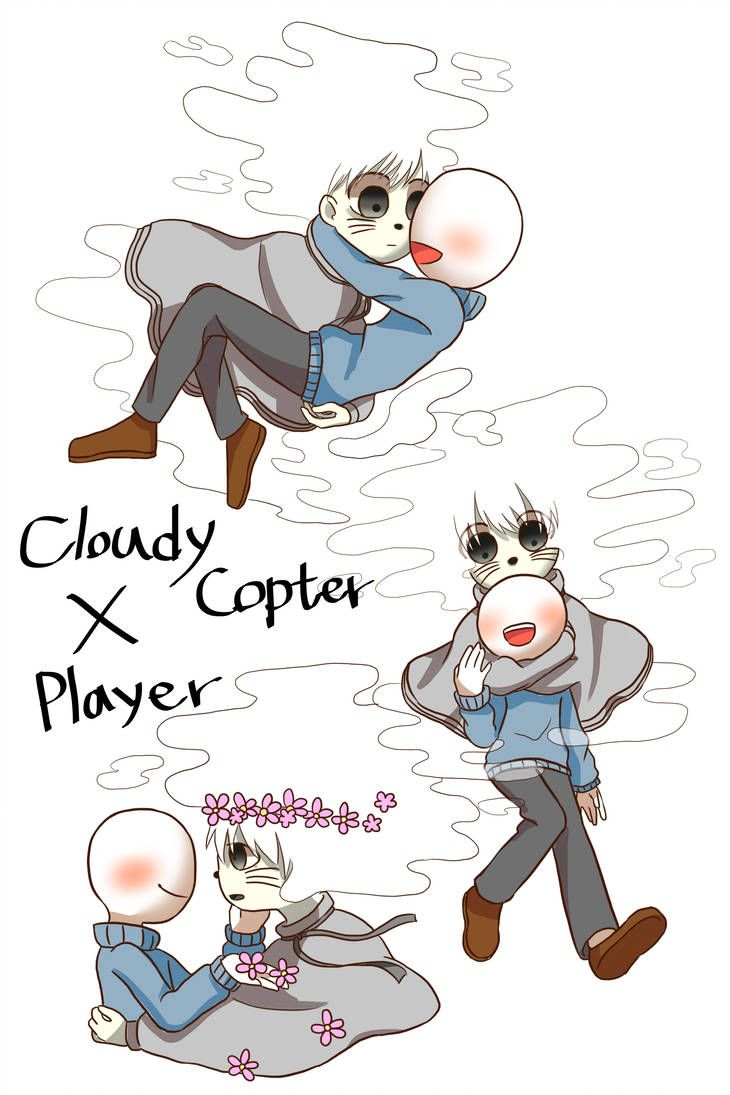 Cloudy Copter X Player So Cute Together Learn To Draw Anime Cute Anime Guys Game Character