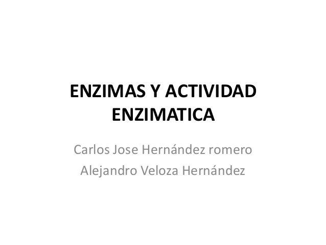 Enzimas y actividad enzimatica