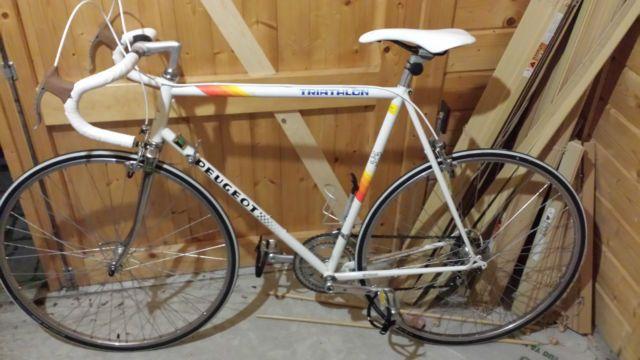 peugeot triathlon vintage road bike racer racing bicycle cycle