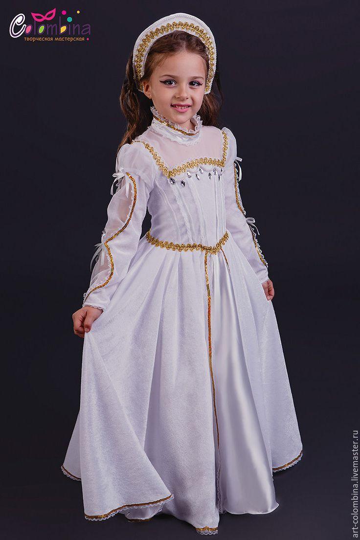 Купить костюм средневековой принцессы - белый, принцесса, костюм принцессы, средневековая принцесса