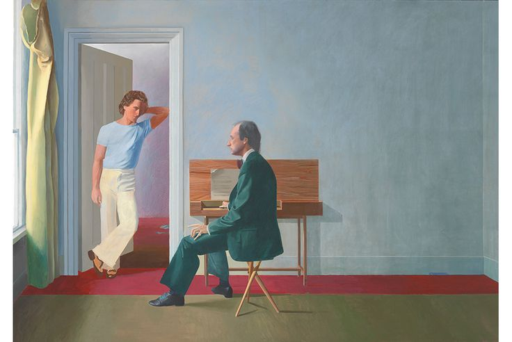 David Hockney's George Lawson and Wayne Sleep 1972-5. Acrylic paint on canvas