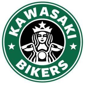 スタバ風カワサキ バイク ステッカー