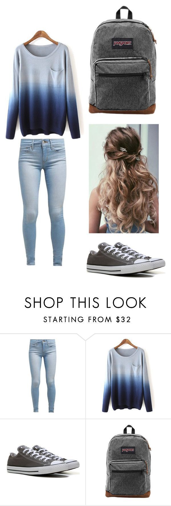 """""""How To Wear Outfits For School"""" by riljeep on Polyvore featuring Levi's, Converse and JanSport #teen_style_awesome"""