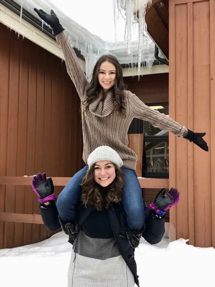 Icicles Photo Snow Picture Ideas Cute Best Friends Poses