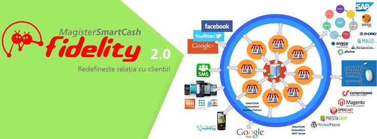 Dragi comercianti utilizatori SmartCash RMS, va invitam sa descoperiti noua versiune #software SmartCash Fidelity 2.0, solutia care va ajuta sa atrageti si sa tineti clientii aproape, sa sincronizati actiunile online cu cele offline, sa integrati retelele de socializare in campaniile de fidelizare si multe altele.  Pentru un #retail cu adevarat modern si eficient!
