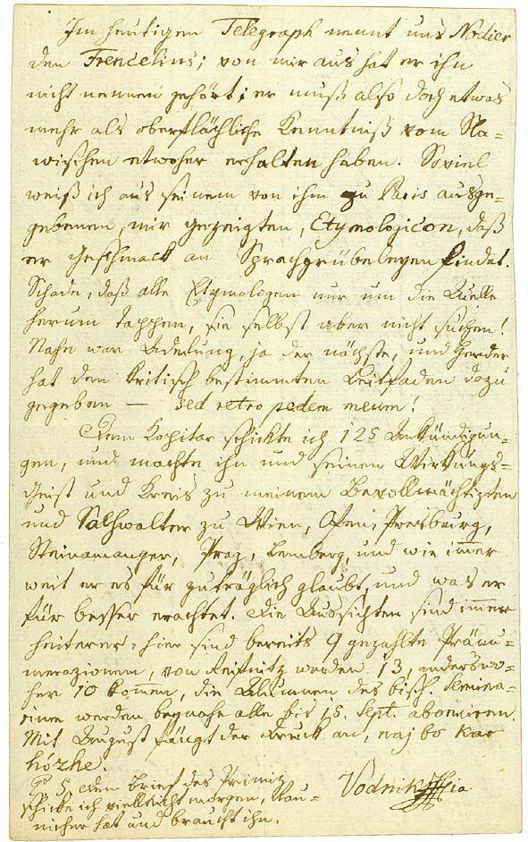 Letter from Valentin Vodnik to Žiga Zois, Ljubljana, 1813 #ValentinVodnik #Slovenia #SloveniaHistory #SloveniaCulture #visitSlovenia #Culture #poet