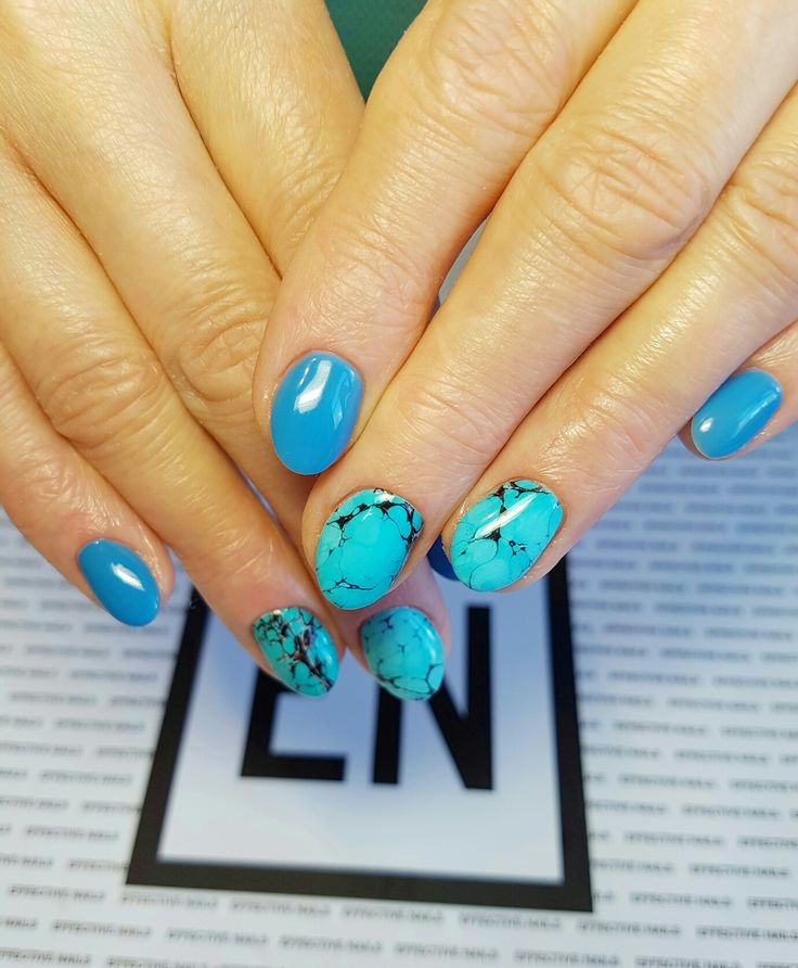 #effectivenails #effectivgirl #effectiveteam #effective #blue #marmurek #nails #hybryda