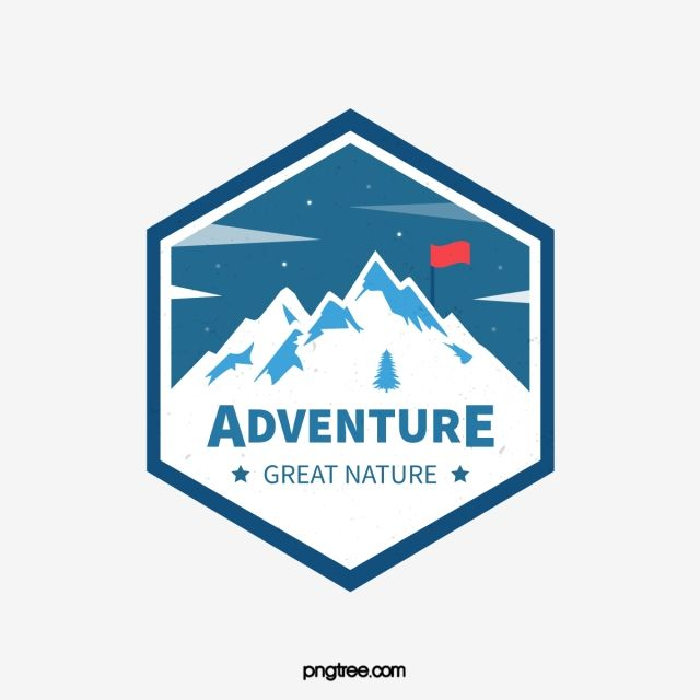Hexagon Snow Mountain Retro Badge Snow Mountain Badge Sign Png And Vector With Transparent Background For Free Download Badge Hexagon Snow Mountain