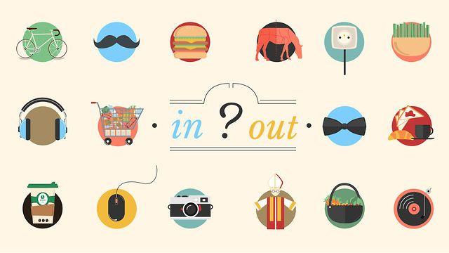 ARE YOU IN // OR // OUT ? by 2 FACTORY. Animation motion qui présente avec humour ce qui est IN ou OUT dans notre quotidien.