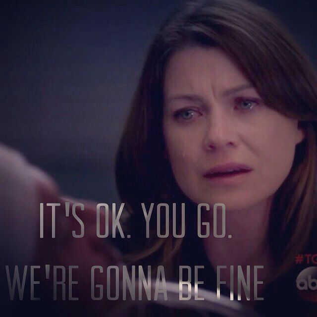 We're gonna be fine... I am in tears!