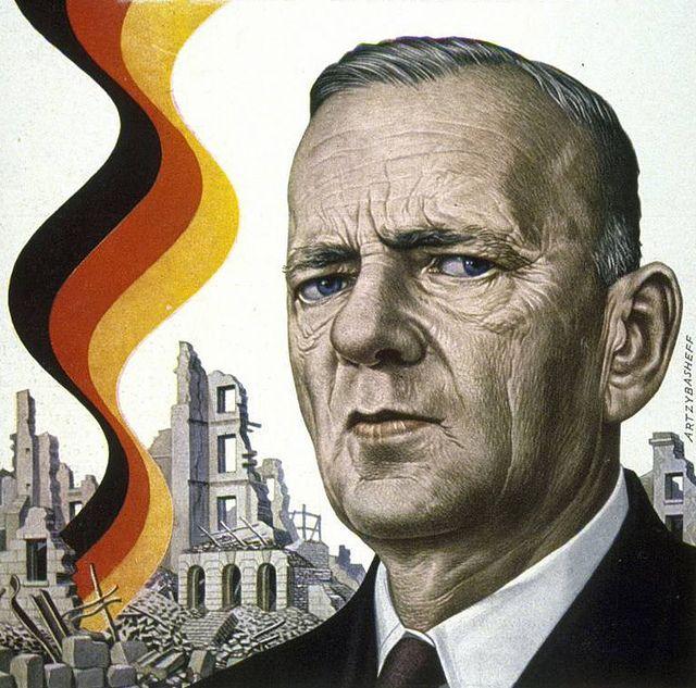 Kurt Schumacher. 1952 TIME cover art by Boris Artzybasheff