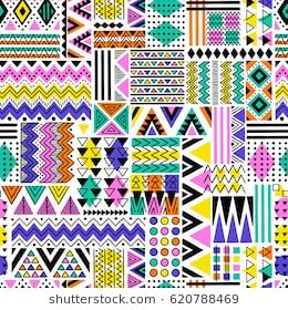 multicolor tribal vector seamless pattern. aztec fancy abstract geometric art print. ethnic hipster background. doodle hand drawn. Wallpaper, cloth design, fabric, paper, cover, textile, wrapping – MariieLa Chaveez