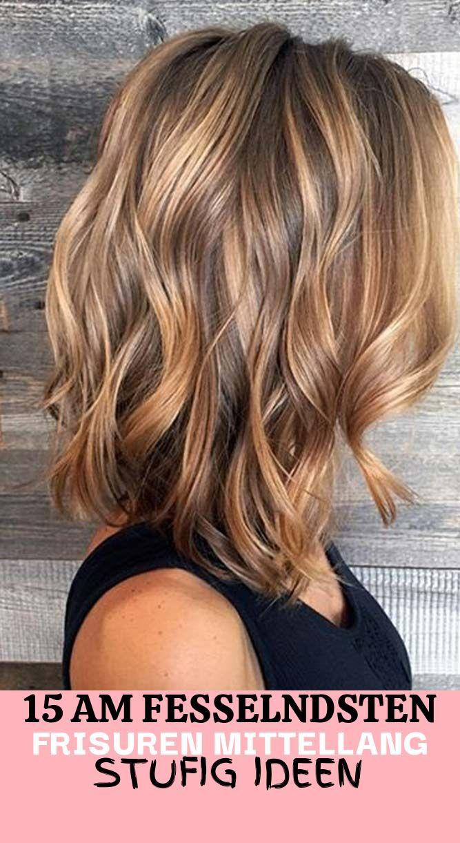 Schulterlang stufig haare Haare schulterlang