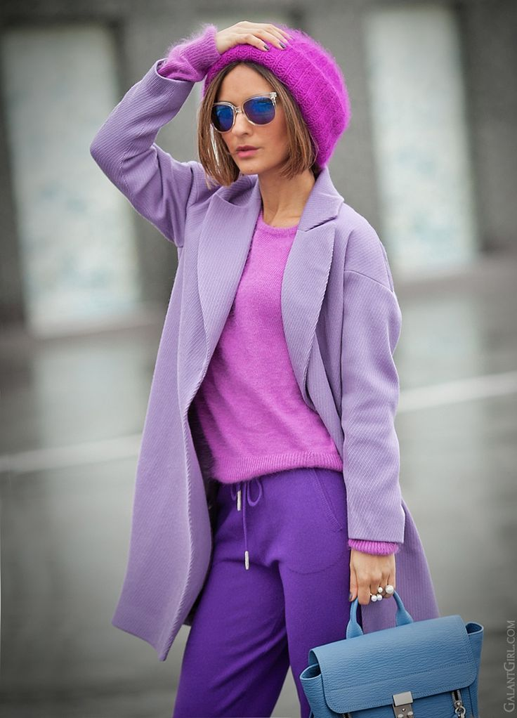 purple mix in fashion on GalantGirl.com
