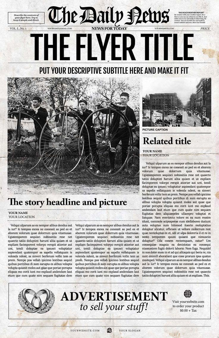 16 best Download InDesign Newspaper Templates images on Pinterest