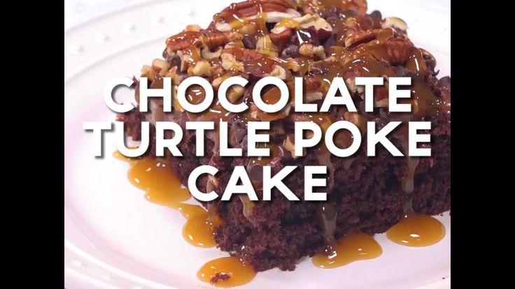 Http Www Momlovesbaking Com Chocolate Turtle Poke Cake