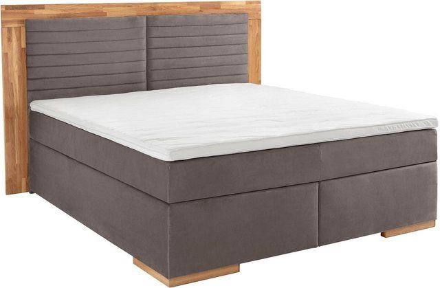 Boxspring Bed Cup With Solid Wood Frame With Topper In 2