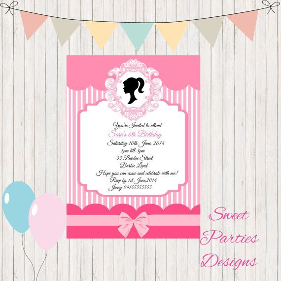 Hey, I found this really awesome Etsy listing at https://www.etsy.com/listing/240102602/barbie-birthday-invitation-edit-and