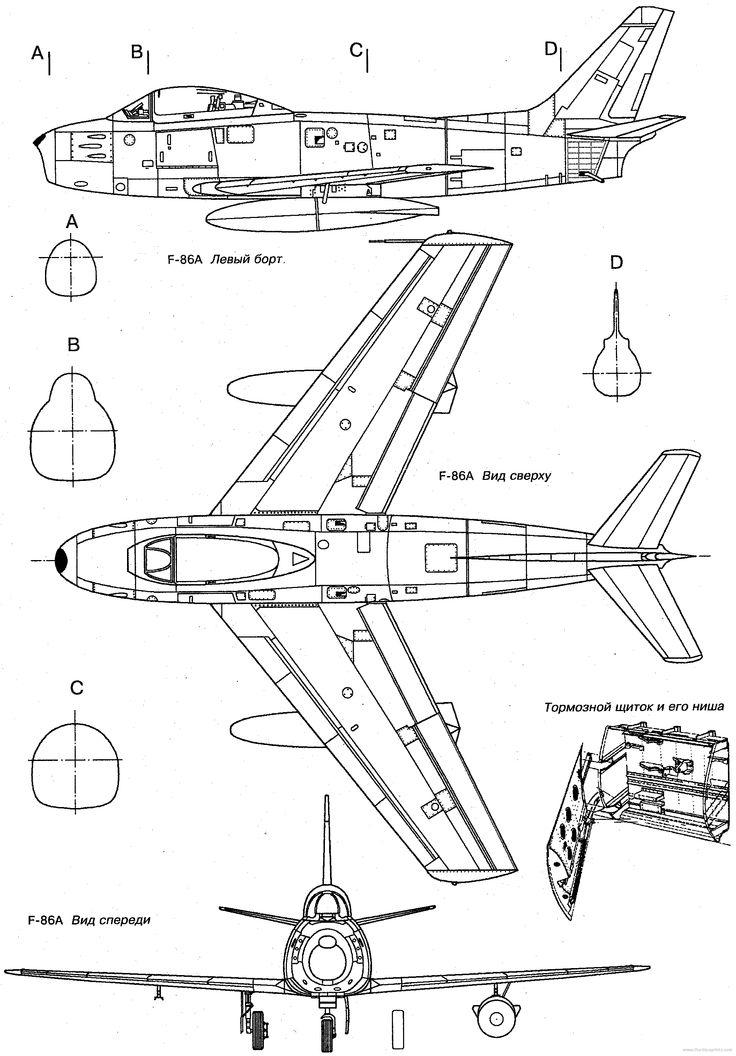 North American F 86 Sabre 5 2109 3028 Planes
