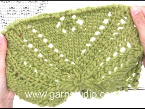 DROPS Knitting Tutorial: How to knit chart A.1 for the top in 170-4 - YouTube