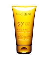 Los 10 mejores protectores solares para el rostro: Clarins Sunscreen for Face Wrinkle Control Cream SPF 50+