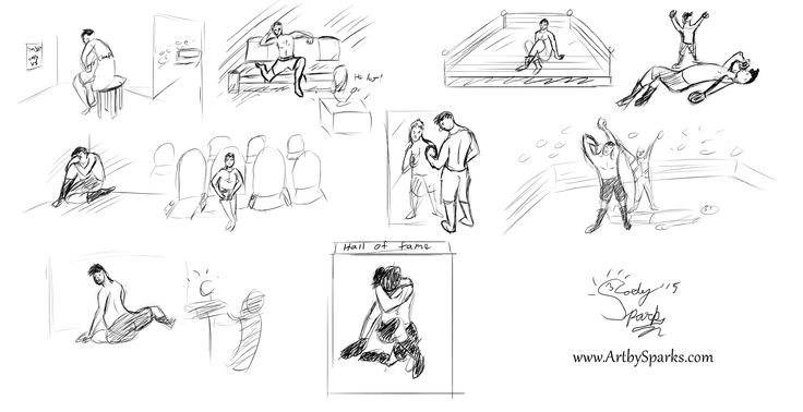 """FINAL lesson 7 """"Story"""" creating a story based off 10 poses you observe at a cafe (like all the other assignments, however for disclosure I really didn't have a cafe to go to so I always used www.quickposes.com which might of defeated the point of them wanting you to do it from life.)"""