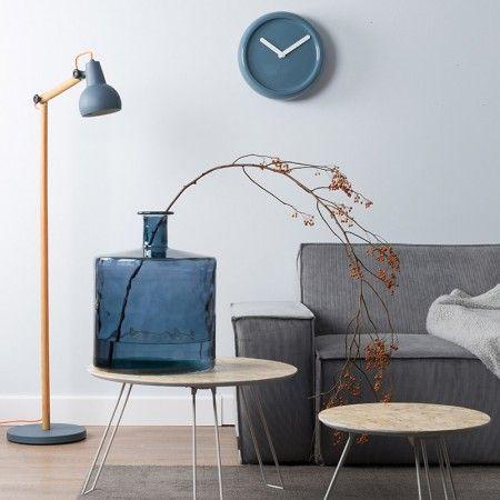Ceramic Time klok Zuiver blauw   Musthaves verzendt gratis