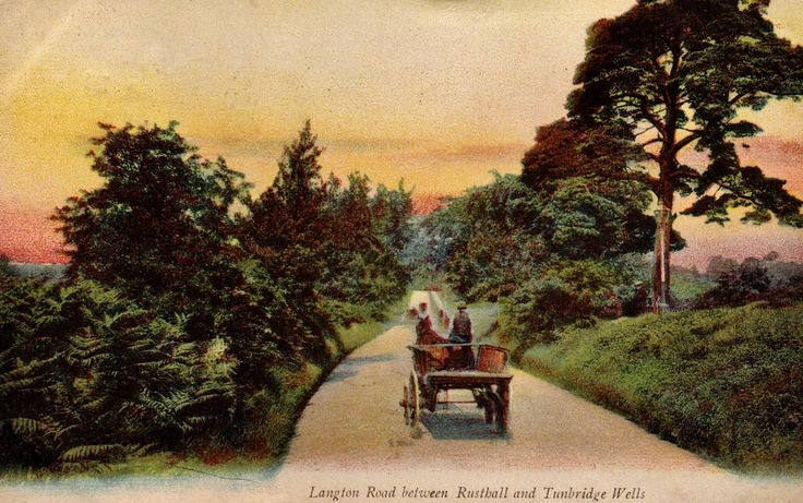 The Langton Road between Rusthall and Tunbridge Wells c1906.