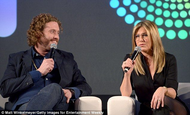 T.J. Miller (L), who plays Carol's hard-partying brother Clay, told EW: 'The second I met Jen, if I can call you Jen, she immediately put me in a headlock,did a very strange pile-driver move, and my rib cage was broken'